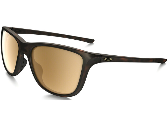 Oakley Reverie Lunettes Femme, matte brown tortoise/tungsten iridium polarized